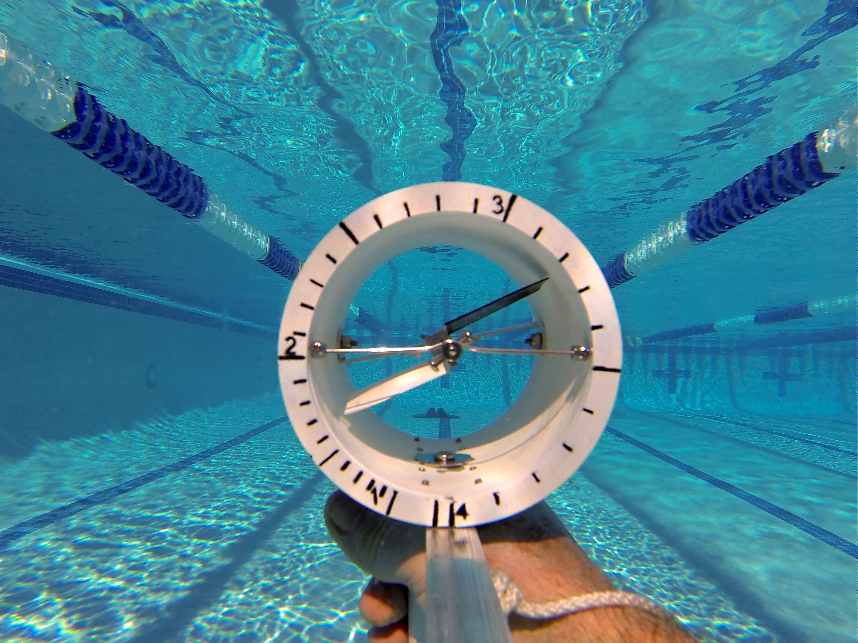 An underwater speedometer